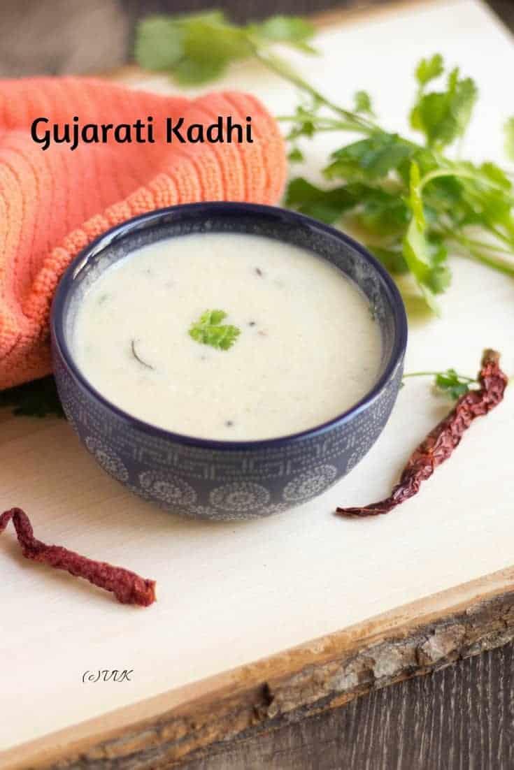 Gujarati Kadhi photo with text overlay