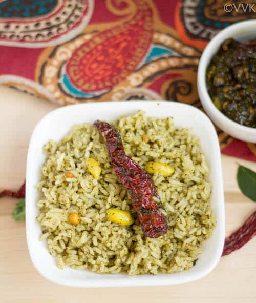 Karivepaku Pulihora | Curry Leaves Tamarind Rice