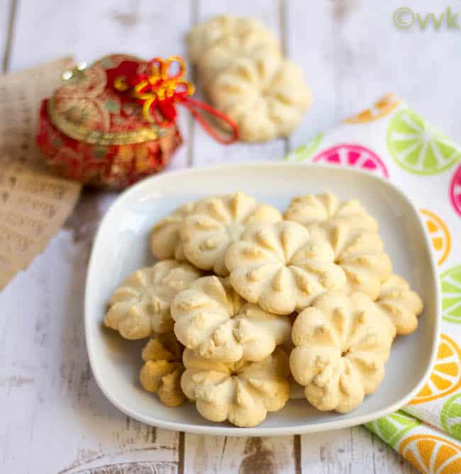Eggless Chinese Butter Cookies