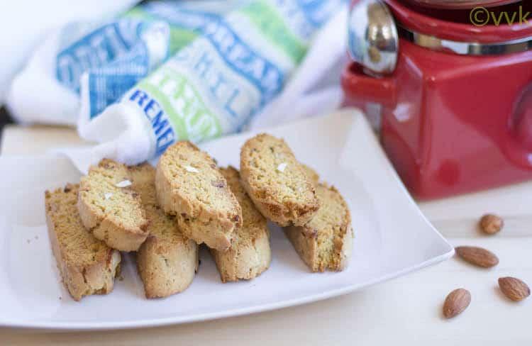 Mandelbrot | Mandel Bread | Eggless Almond Biscotti