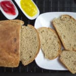 Russian Rye Bread or Rizhsky Khleb served fresh out of the oven and looking extra inviting
