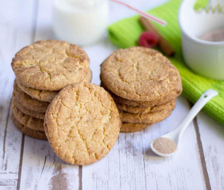 Eggless Snickerdoodle Cookies