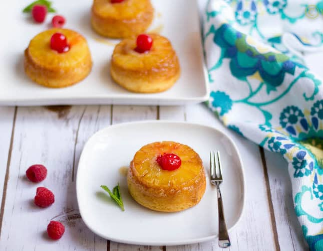 Upside down Pineapple Cake | Eggless Upside down Single Serving Pineapple Cake