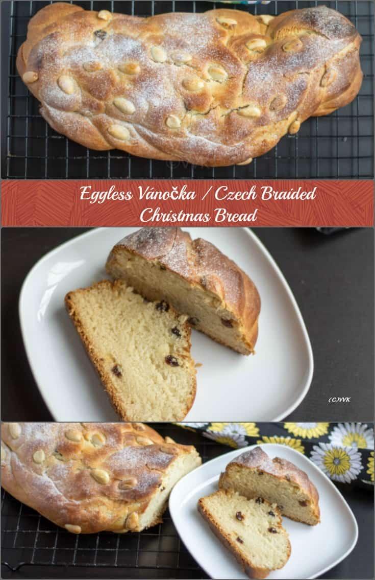 Eggless Vanocka | Czech Braided Bread