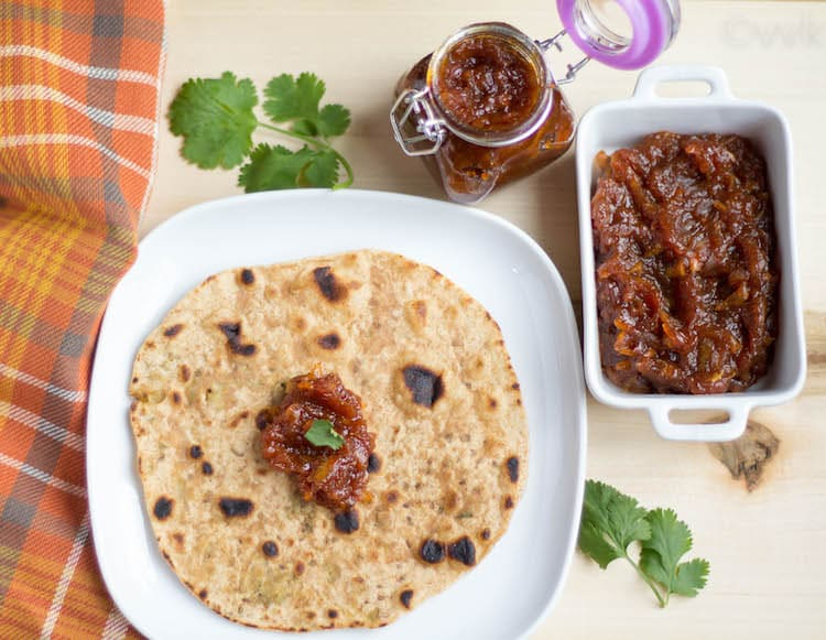 Serving Sweet and Spicy Raw Mango Pickle - Instant Aam Ka Chunda