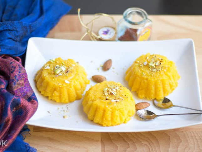 Microwave Vegan Mango Kesari / Sheera | Vegan Mango Desserts