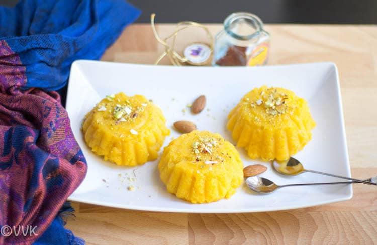 Vegan Mango Rava Kesari