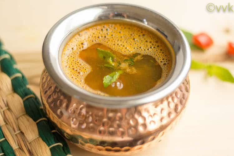 Instant Pot Mint Rasam with Masoor Dal