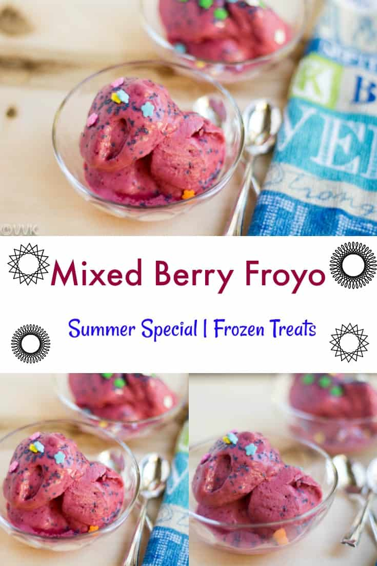Mixed Berry Froyo collage with text overlay