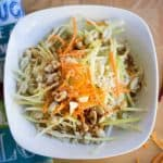 Vegan Green Papaya and Green Mango Salad - Thai Special - Overhead Square Image