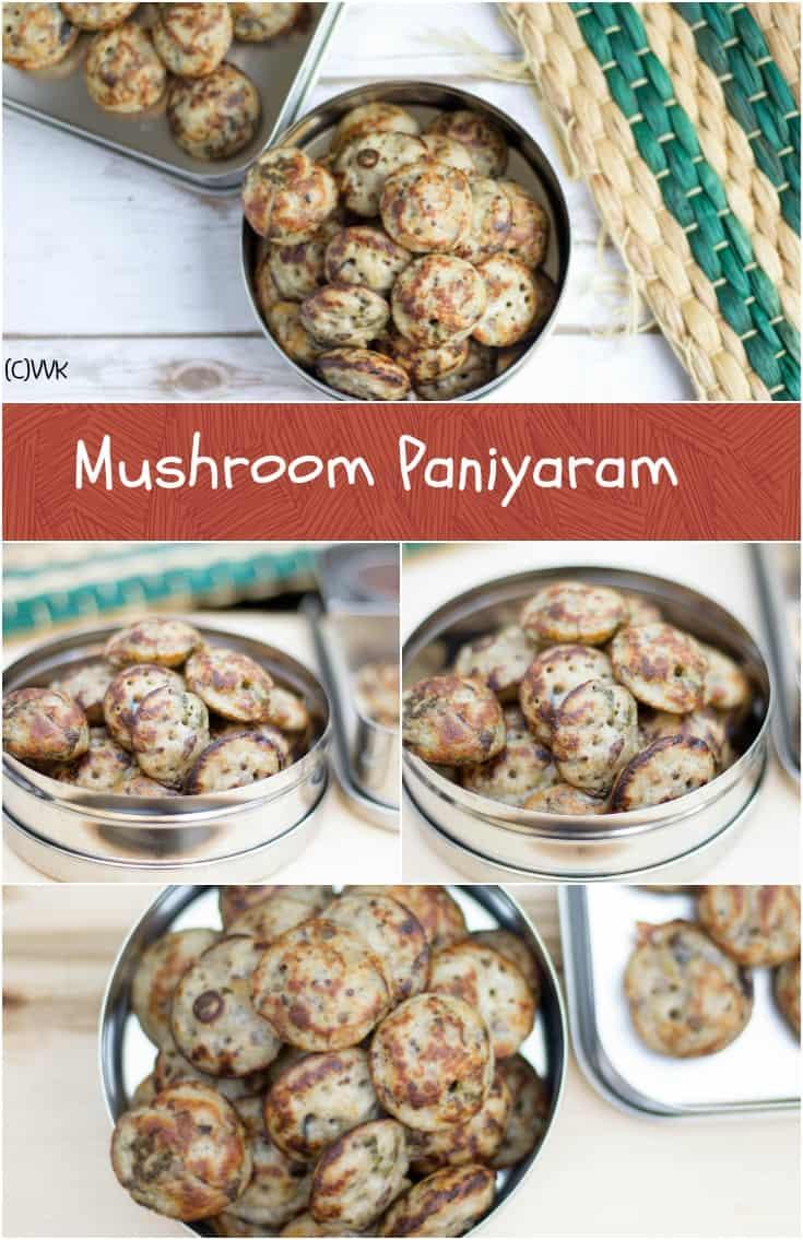 Mushroom Paniyaram