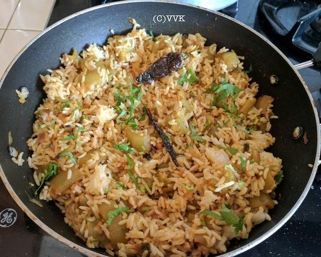ridgegourd rice