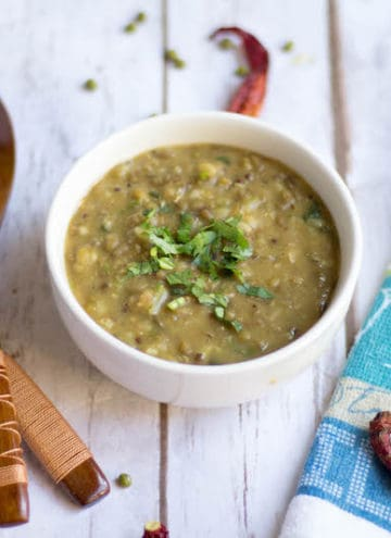Instant Pot Mashed Green Gram Dal