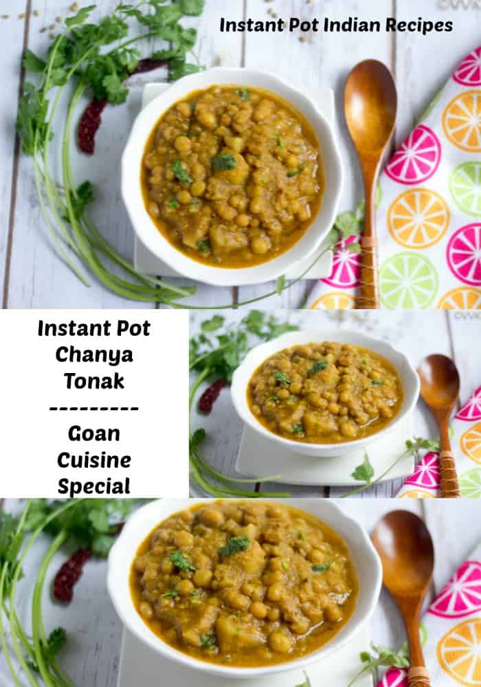 Instant Pot Chanya Tonak collage with text overlay
