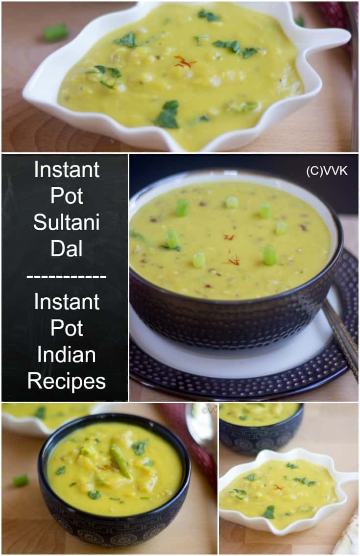 Instant Pot Sultani Dal collage with text overlay