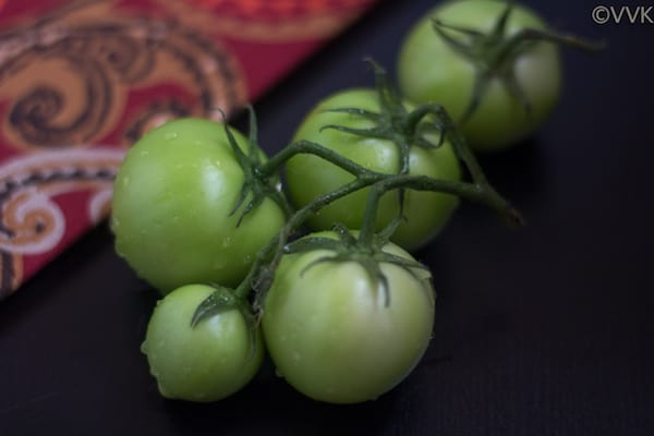 Green Tomatoes looking fresh and inviting