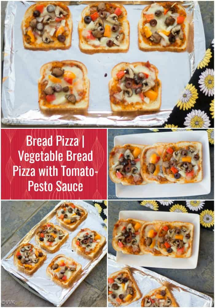 Vegetarian Bread Pizza