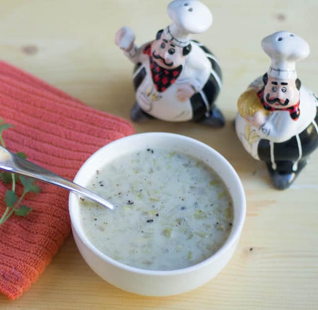 Cream of Celery Soup | Crockpot Celery Soup