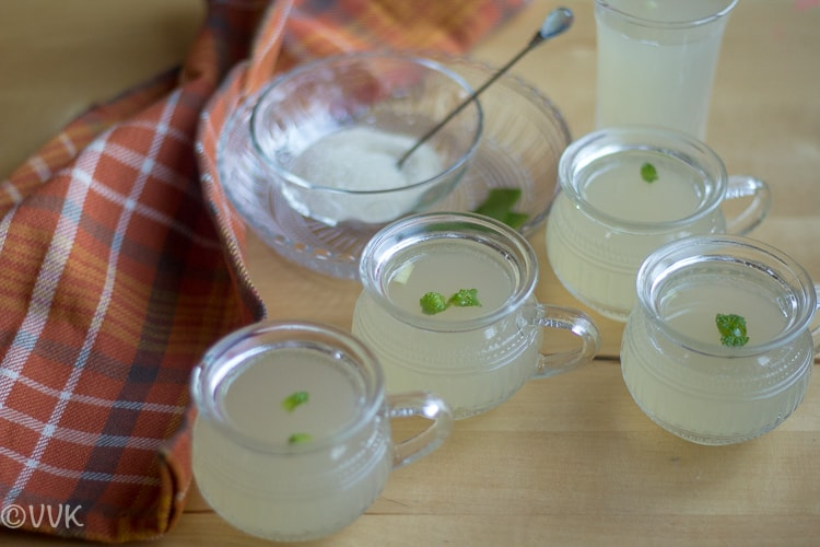 Healthy and flavorful drink made with aloe vera and served during the day