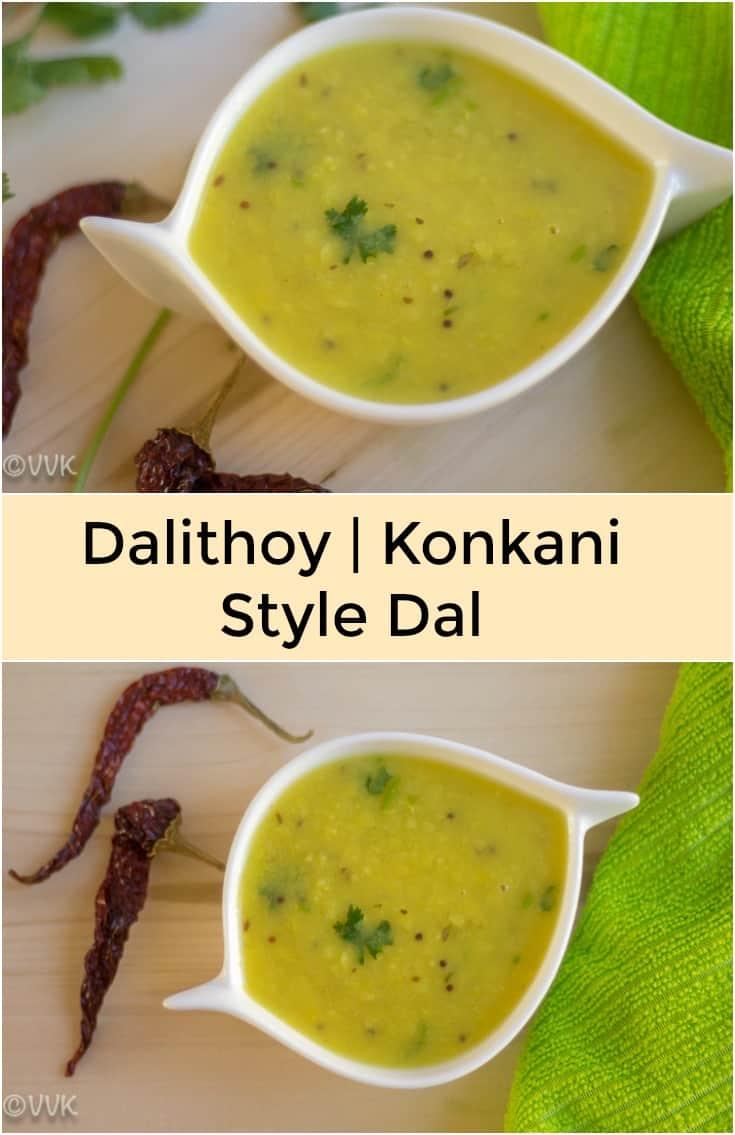 Dalithoy, Konkani Dal, collage with text overlay