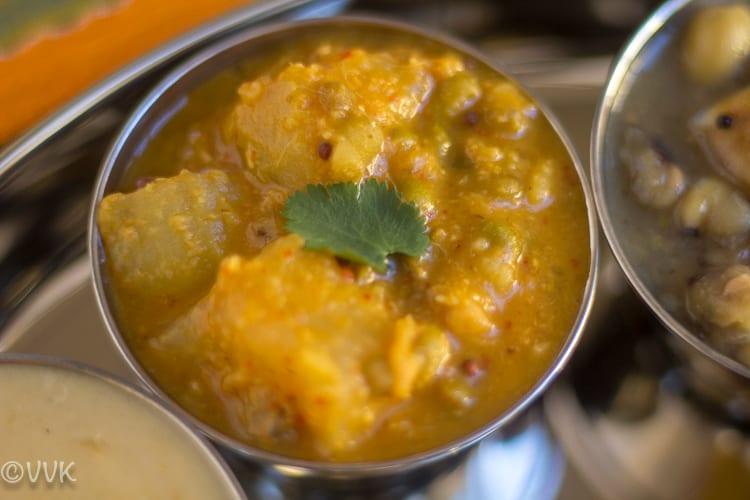 Mung MoleRandayi for Vegetarian Konkani Thali
