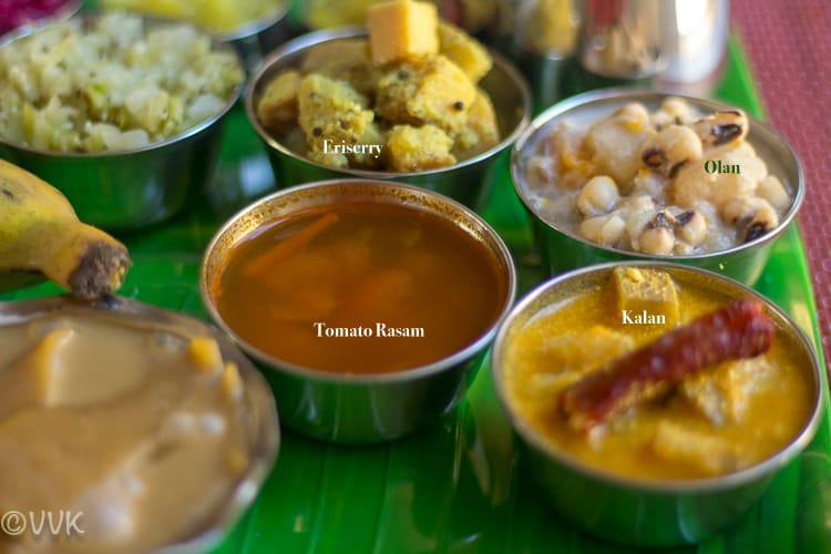 Onam Sadya Thali Kerala Recipes: tomato rasam, kalan, olan and eriserry