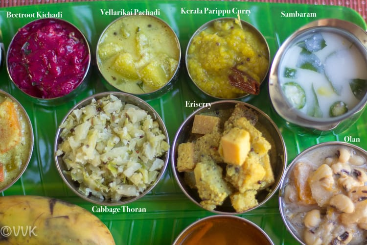 Onam Sadya Thali Kerala Recipes: beetroot kichadi, cabbage thoran, sambaram and other