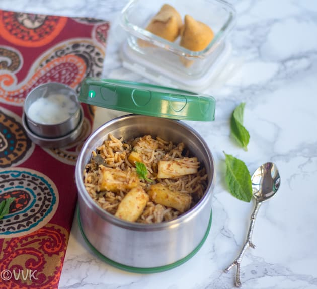 Paneer Biryani recipe for the perfect lunch