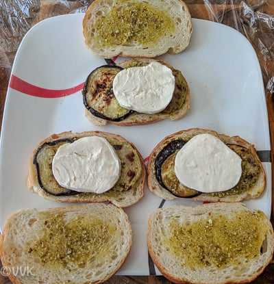 Eggplant Mozzarella Sandwich - Step 8 Shot
