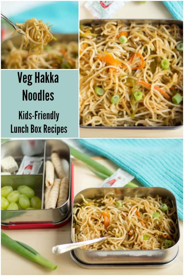 Hakka Noodles collage with text overlay