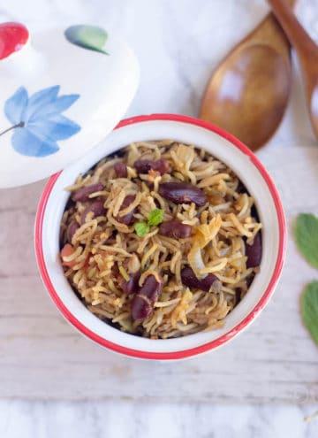 Rajma Pulao - Instant Pot Rajma Pulav - Beautiful Dish Perfect to Serve for Dinner