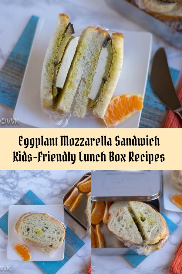 Eggplant Mozzarella Sandwich - Collage with Text Overlay