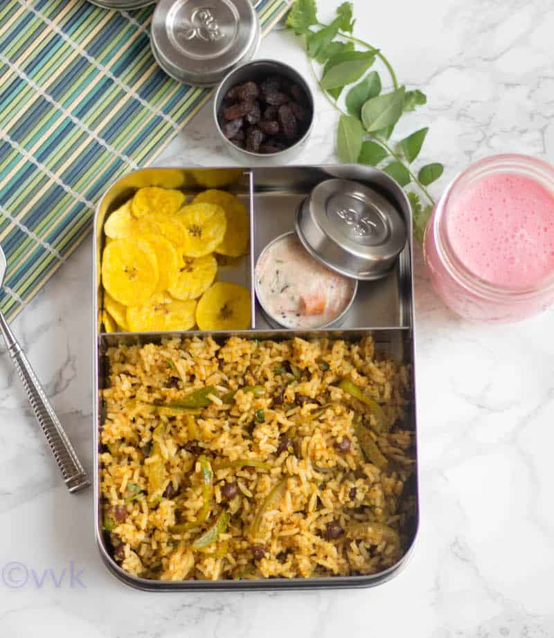 Kadale Manoli Rice - Ivy Gourd and Black Chickpea Rice Recipe