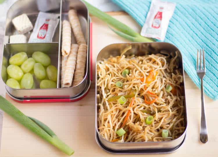 Veg Hakka Noodles - the perfect lunch box option is ready
