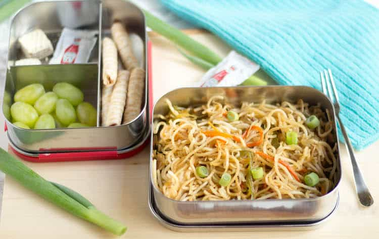 Veg Hakka Noodles made for the lunch box