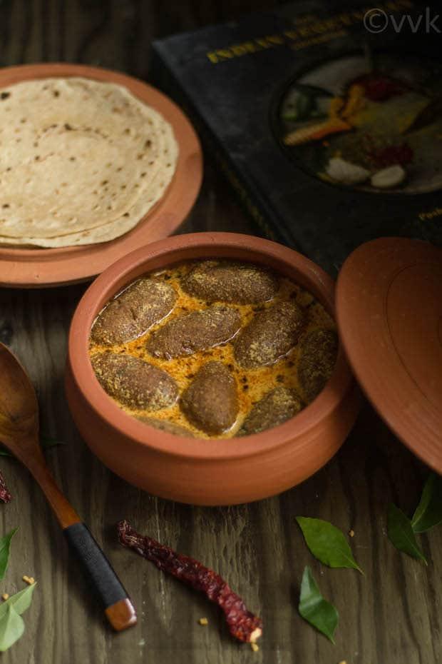 Bharwaan Gatte or Stuffed Chickpea Flour Dumpling Curry