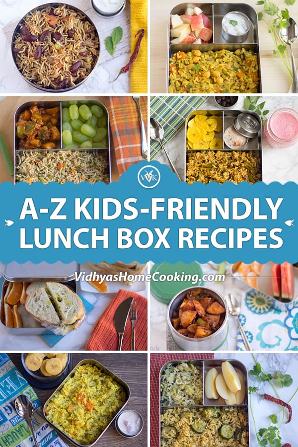 Kids-Approved Lunch Box recipe collection collage with text overlay