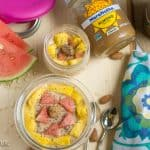 Overnight Oats with Almond Butter and Banana Ready