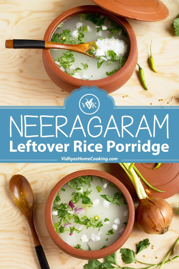 Leftover Rice Porridge collage with text overlay