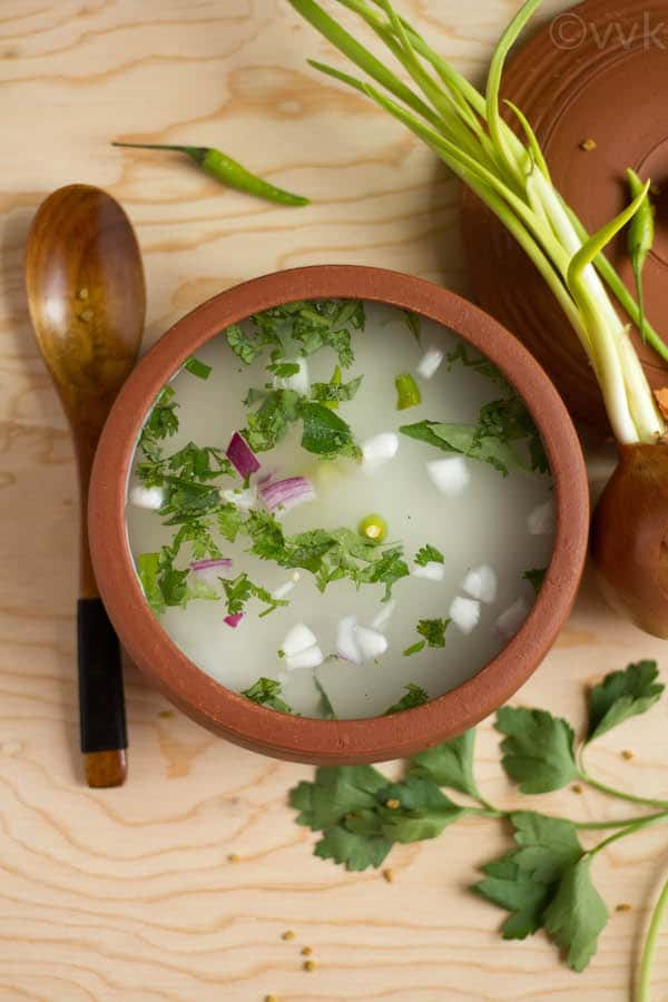 Neeragaram - Leftover Rice Porridge overhead