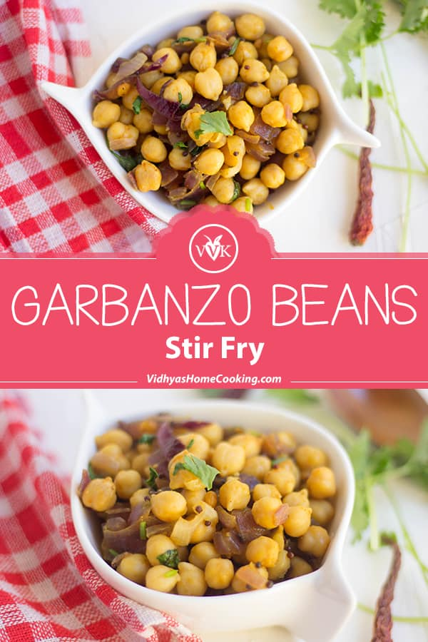 Garbanzo Beans Stir-Fry collage with text overlay