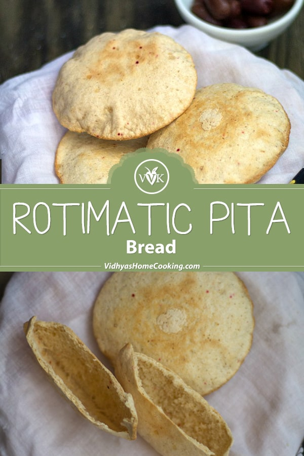 Rotimatic Pita Bread collage with text overlay
