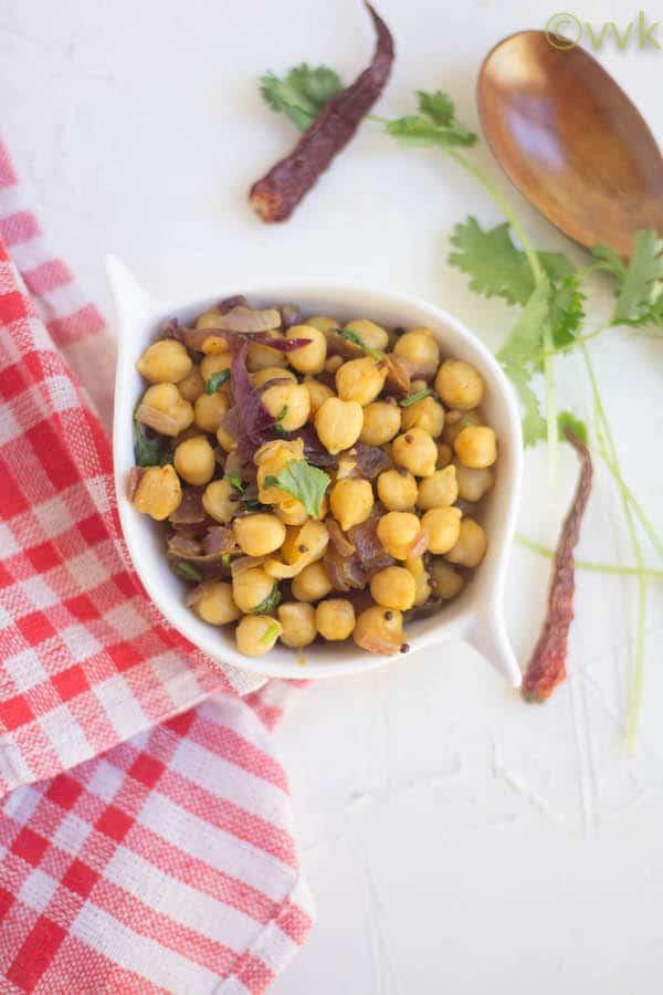 Garbanzo Beans Stir-Fry served