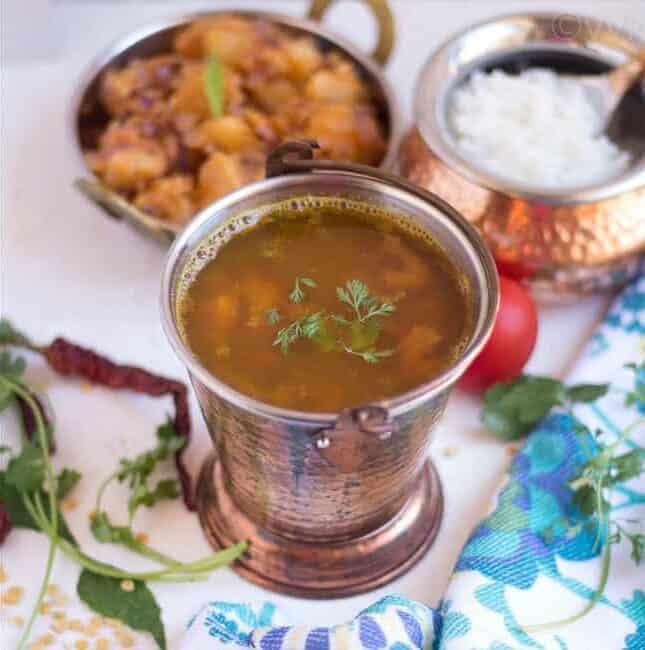Paruppu Rasam | Dal Rasam | South Indian Lentil Soup