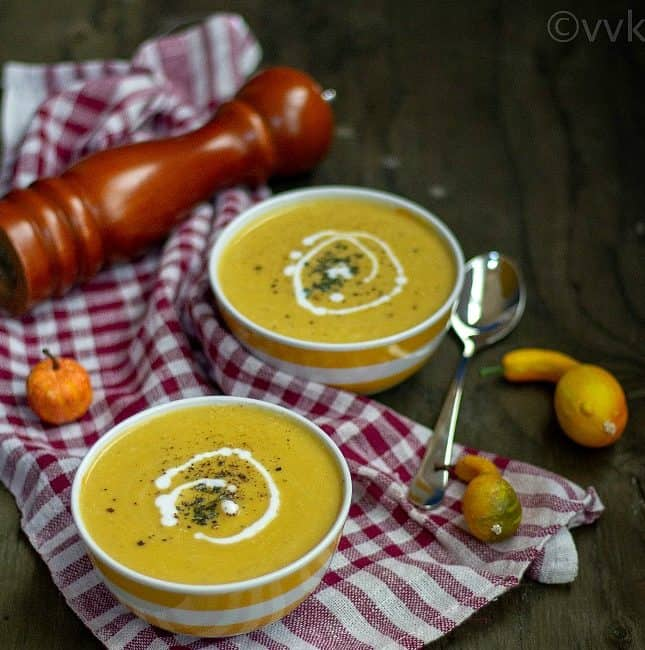 Vegan Butternut Squash Soup with Coconut Milk