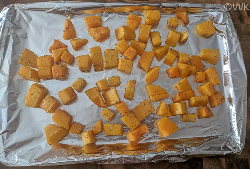 baked veggie after 30 minutes