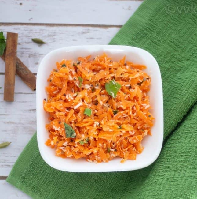 Carrot – Coconut Salad | Kosambari