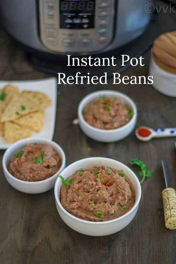 Instant Pot Refriend Beans simple collage