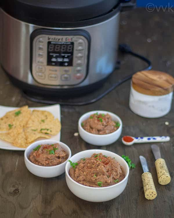 Instant Pot Vegetarian Refried Beans homemade recipe
