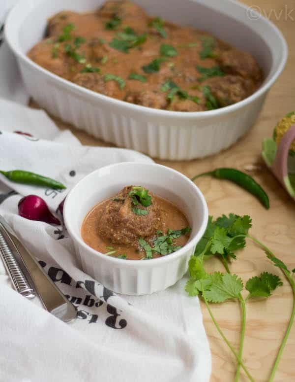 Vegan Zucchini Kofta Curry ready